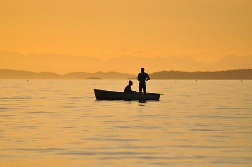 Fishing, Sunset, British Columbia