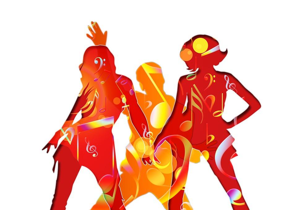 Illustration gratuite danse la musique clef de sol for Musique barre danse classique gratuite
