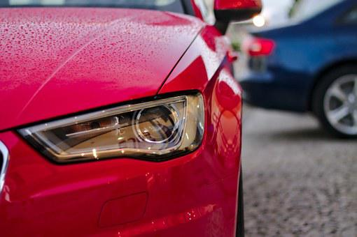 Voiture, Audi, Phare, Rouge, Lumière