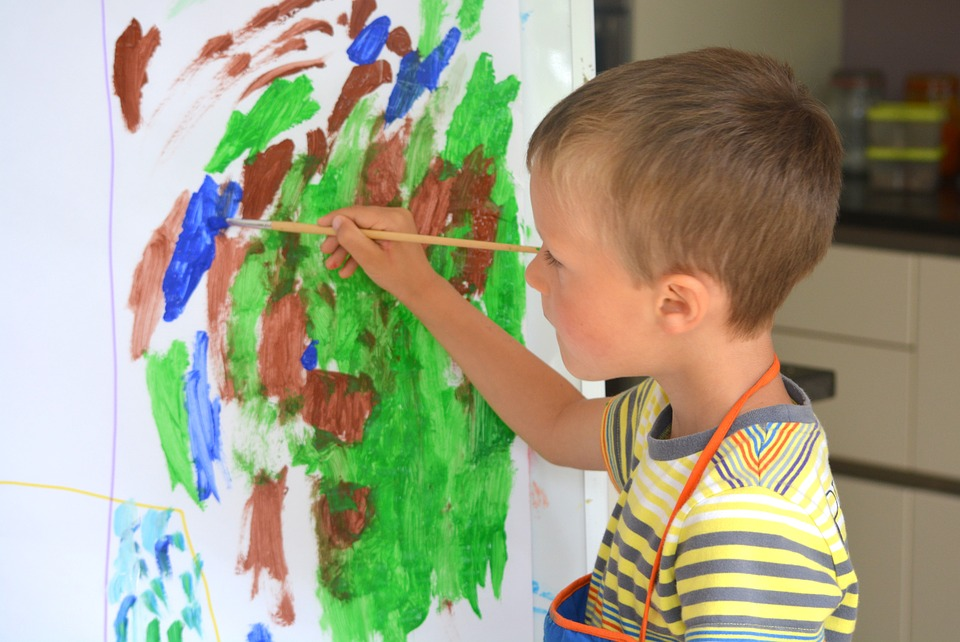 free photo boy child people painting brush free image on