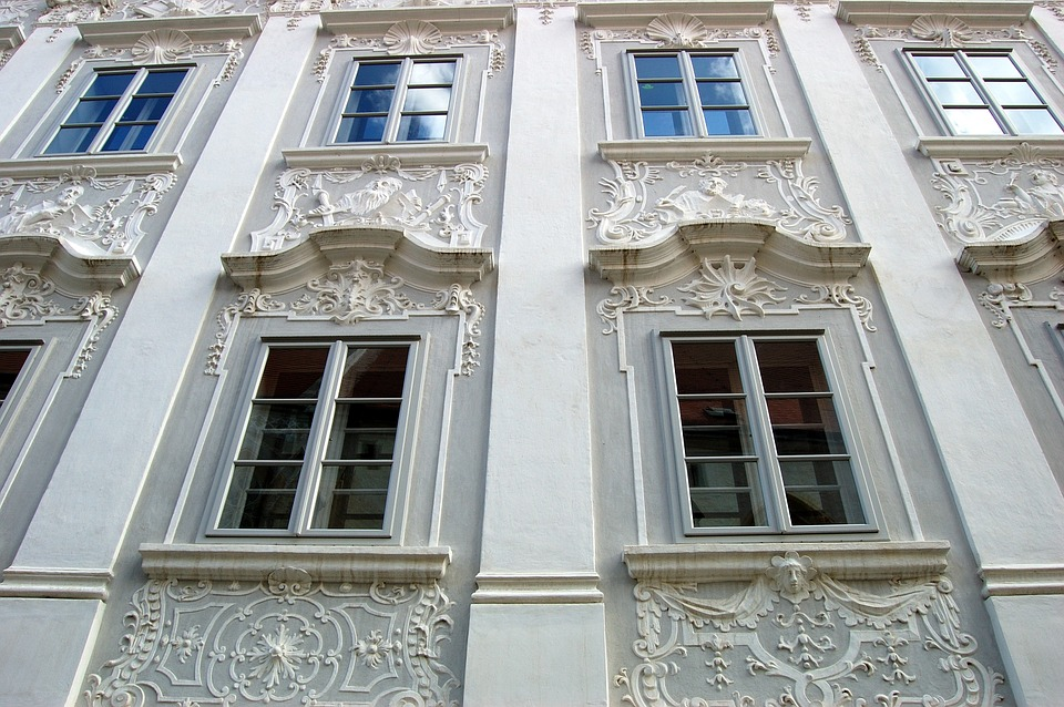 Free photo austria old town architecture free image for Stucco facade