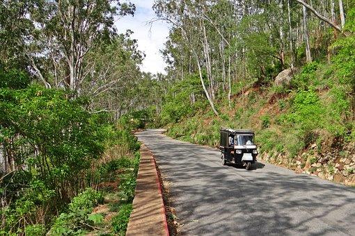 Hill Road, Auto-Rickshaw, Nandi Hills