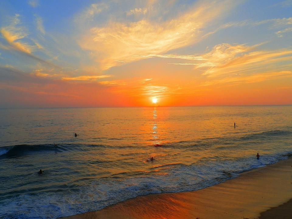 California Sunset Beach Pacific Ocean