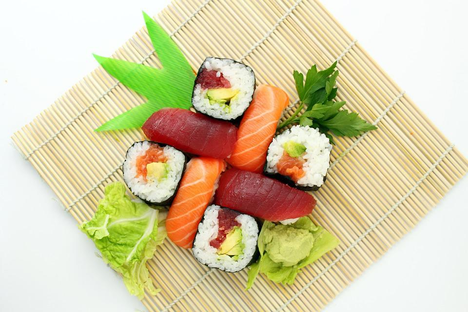 Sushi, Japansk, Lækker, Asiat, Mad, Yummy