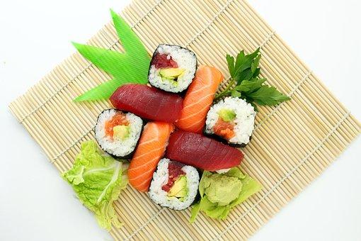 寿司, 日本, おいしい, アジア, 食品, 日本食, 刺身, 竹網代, 新鮮な