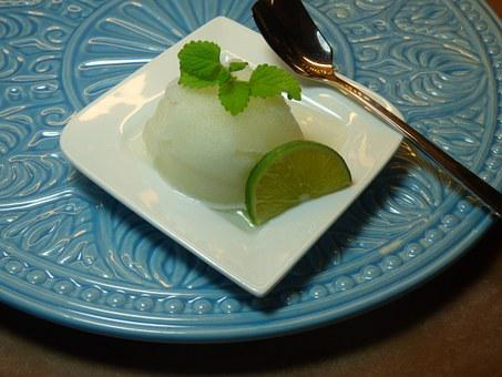 Lime Sorbet Sorbet Lime Citrus Fruits Lemo