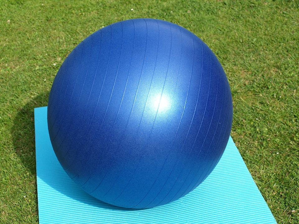 how to use large peanut gym ball