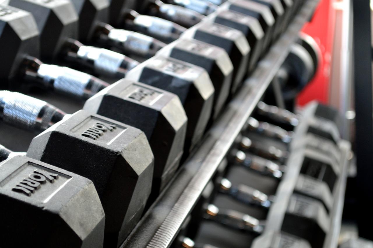 フィットネス, 重量挙げ, ダンベル, 運動, ジム, 解除, トレーニング, 適合, ボディービル