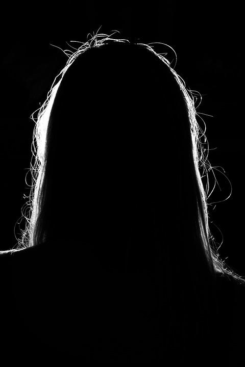 Silhouette, Woman, Dark, Light, Person, Unknown