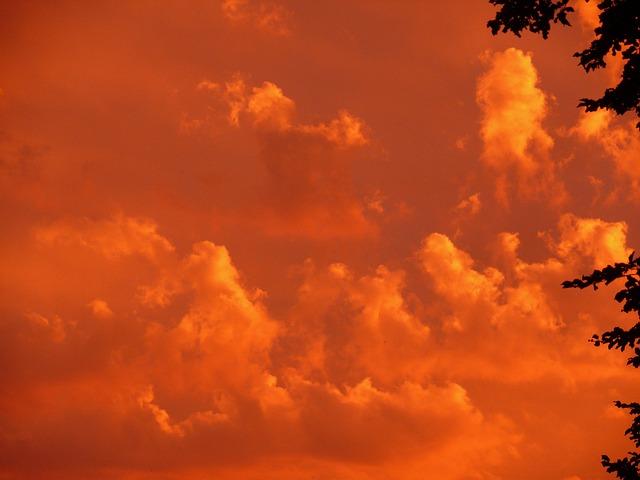 Free Photo Sunset Red Sky Clouds Orange Free Image