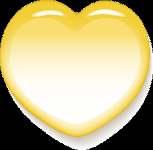 желтое сердце картинка аскетической