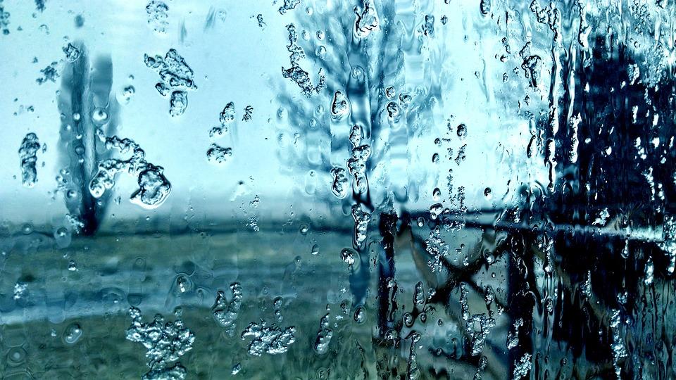 Free Photo Frost Melting Window Glass Rain Free