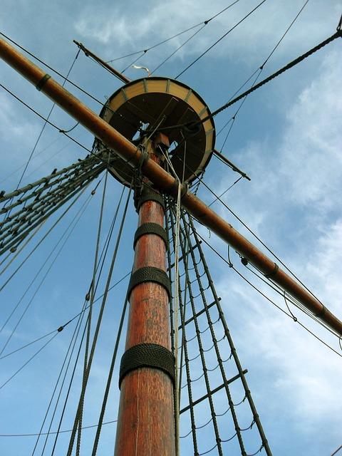 free photo  mayflower  mast  ship  sailboat