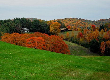 Vermont, Fall, New England, Rural