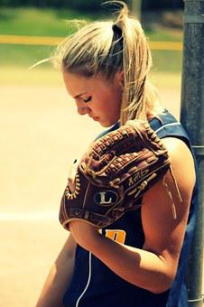 Softball Girl Young Player Summer Outdoor