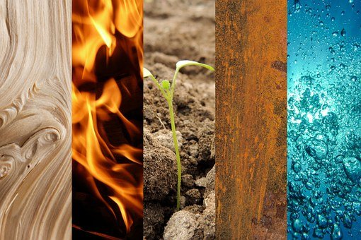 Five Elements, Wood, Fire, Earth, Metal