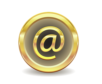 E Mail, Message, Gold, Gradient