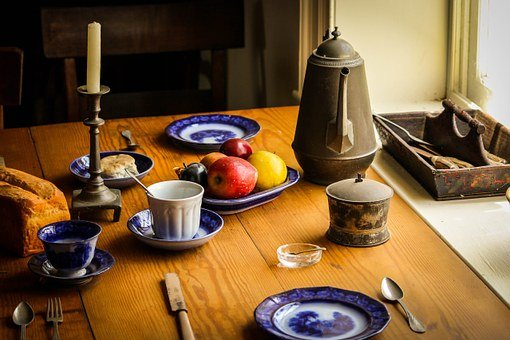 静物, 食品, 夕食, テーブル, 農家の台所, アポマトックス裁判所の家