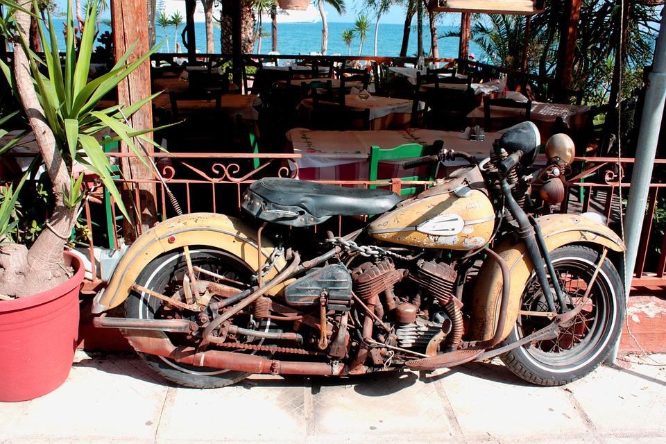 無料の写真 オートバイ ハーレーダビッドソン 歴史的に 古い コルフ島 Pixabayの無料画像