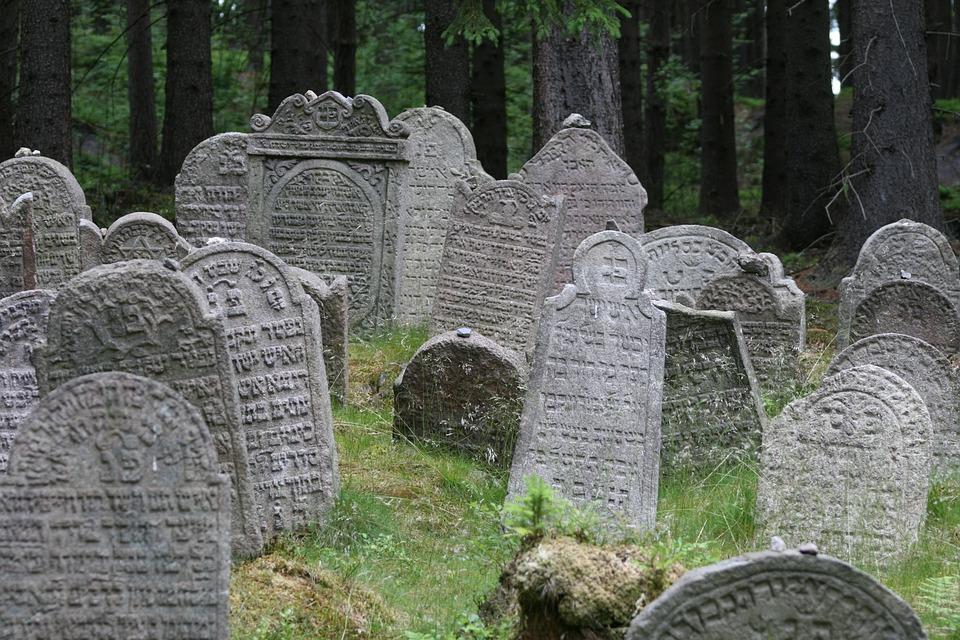 Jødisk begravelse, Kirkegård, Jøde, Grav, Gravsten, Skov