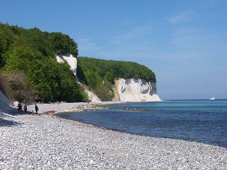Rügen, Kreidefelsen, Kreideküste, Strand, Camping Rügen