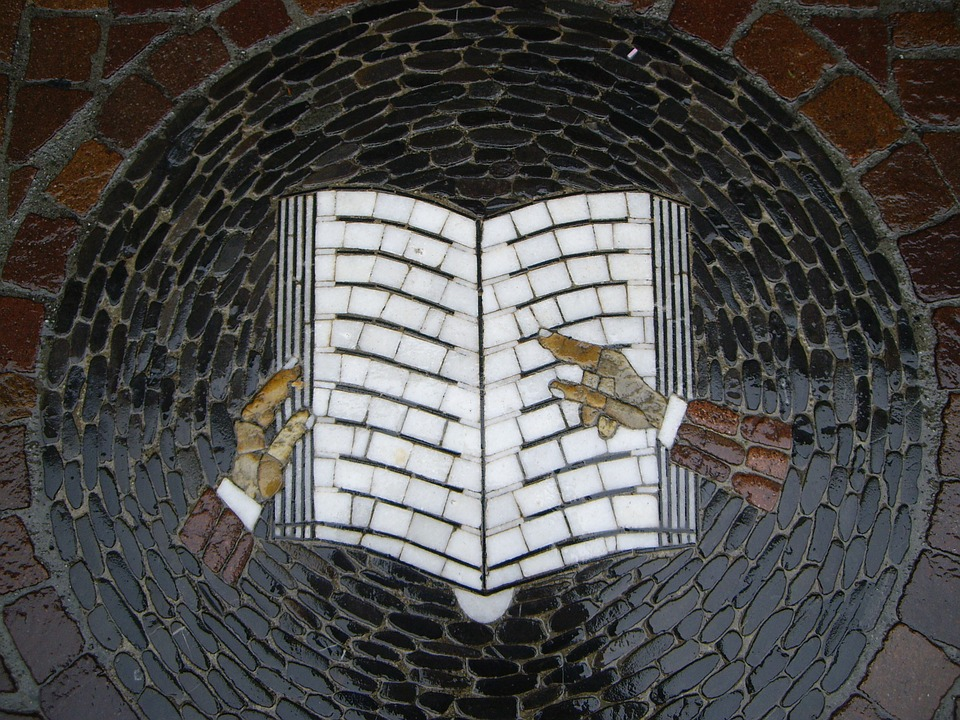 Mosaic Book Symbol Image Stone Page Books
