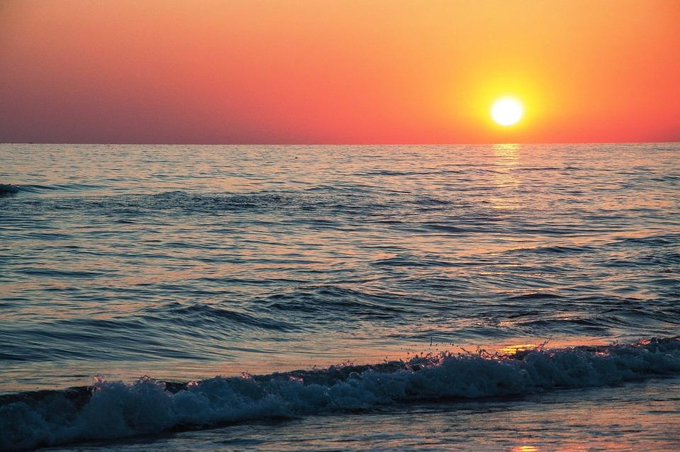 Grande foto tramonto mare jc19 pineglen for Sfondi desktop tramonti mare