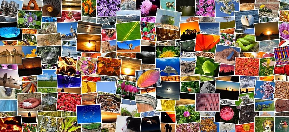 画像, 写真, 写真集, フォト アルバム, モザイク, コラージュ, 録音, 多様性, 多くの, カラフル