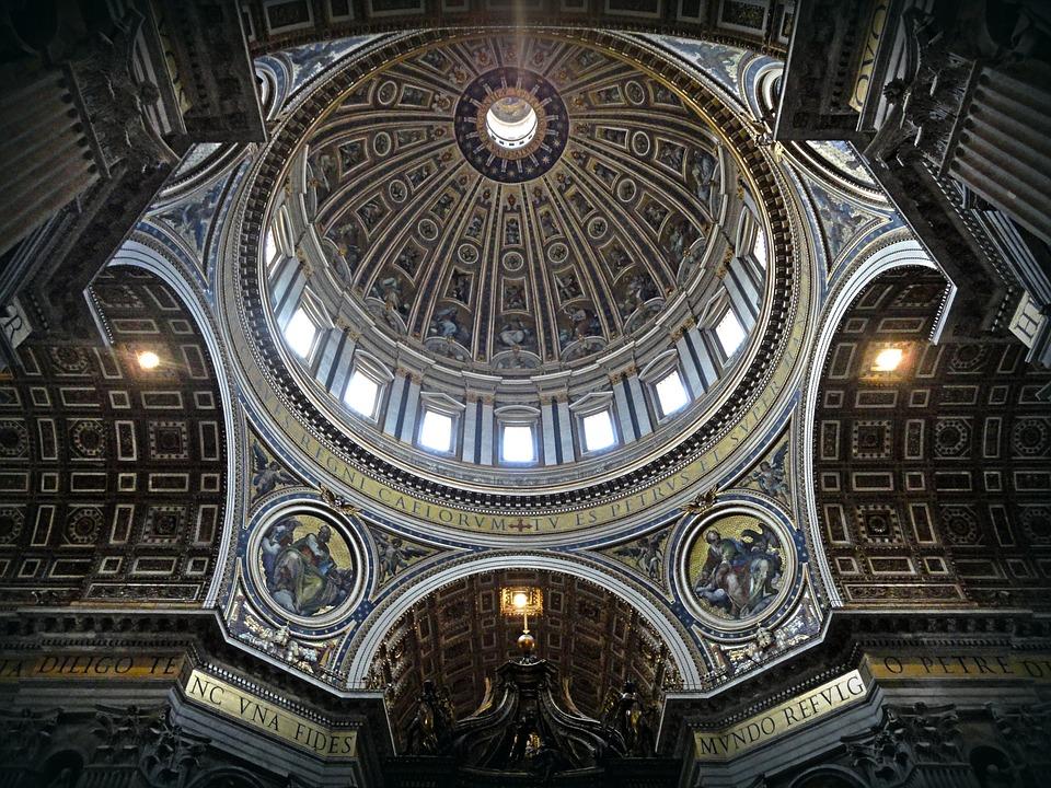 Gewölbe, Kirche, Gold