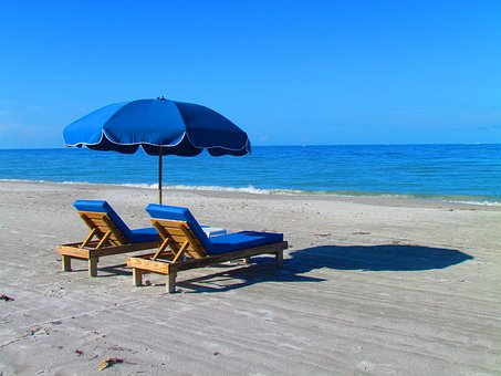 Beach, Relax, Chair, Umbrella, Ocean