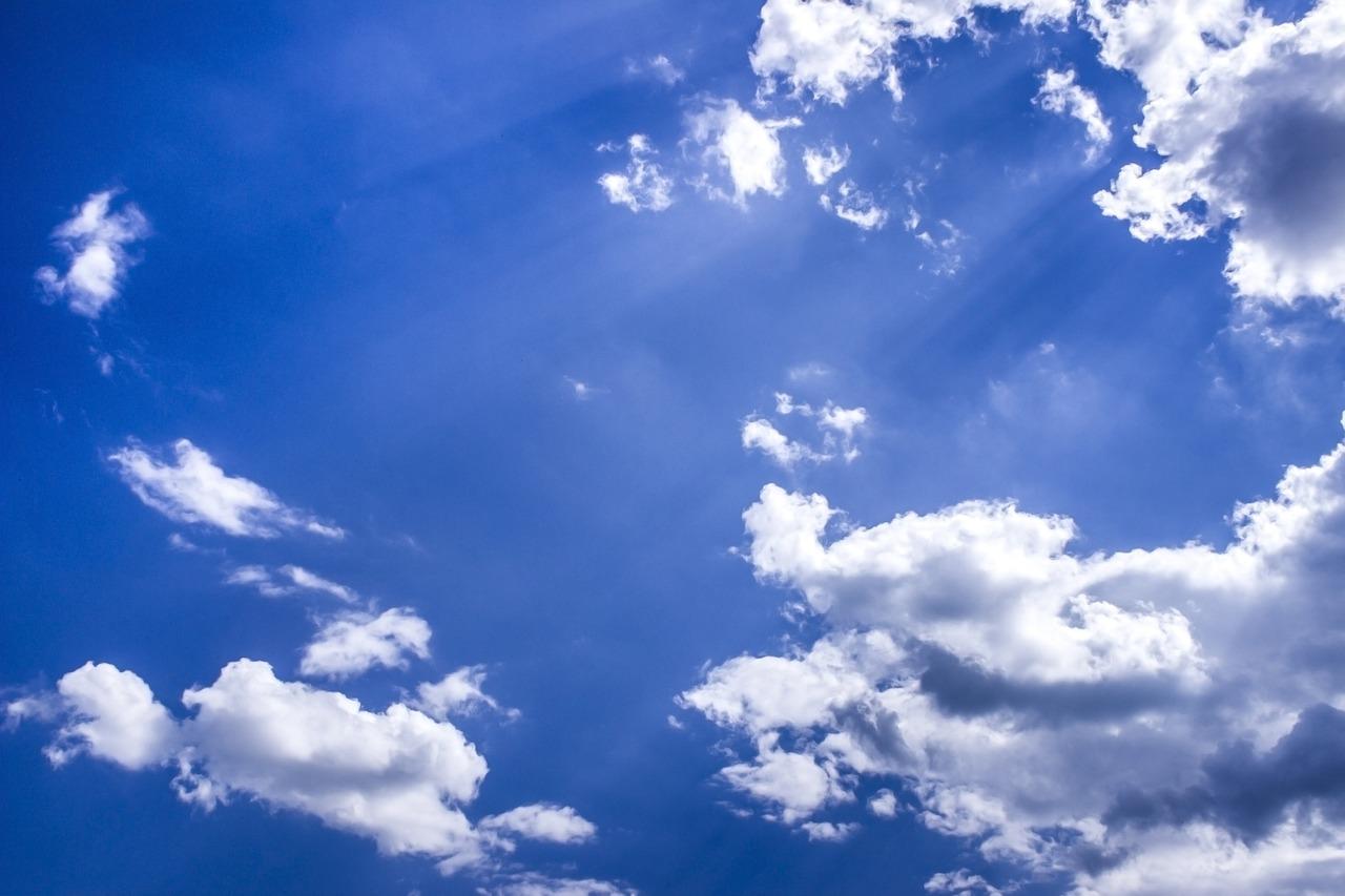 Голубое небо для открытки, картинки днем