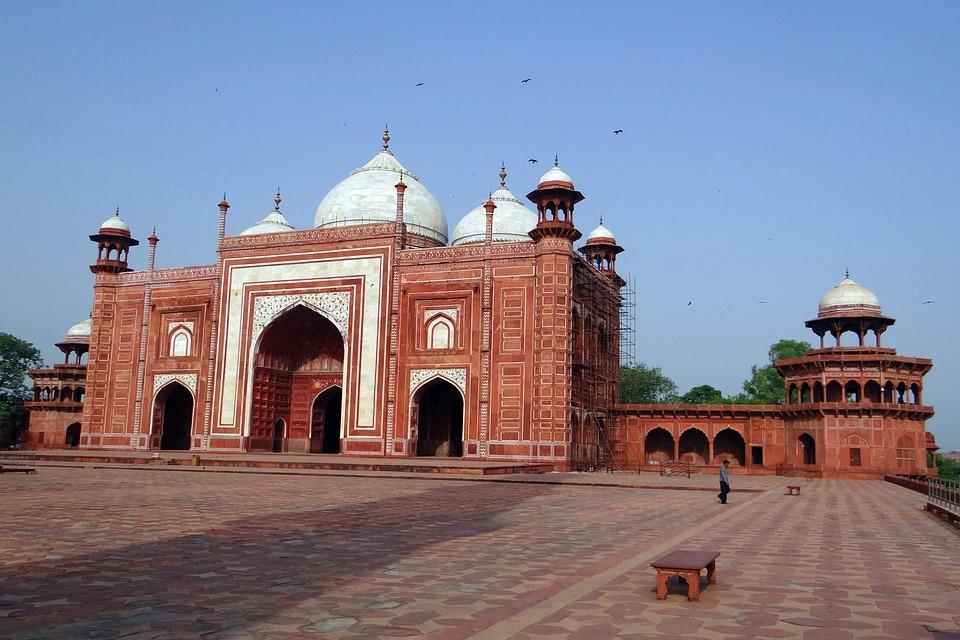 Free Photo Taj Mahal Mosque Red Sandstone Free Image On Pixabay 383144