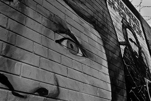 Belfast, Wall, Ireland, Sadness, Face