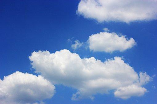 空, に散在の雲, 日光, 夏, 太陽, ソウル