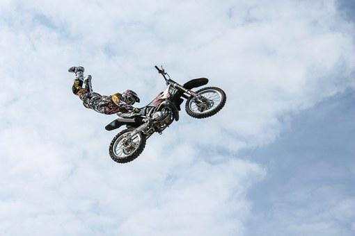 Biker, Motorcycle, Stunt, Man, Person