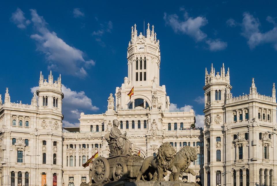Madryt, Budynku, Architektura, Tło, Miejskich, Kapitału