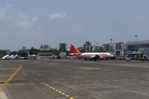 Aeropuerto, Mumbai, Avión, Air India