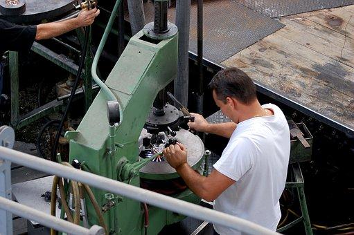 業界, 工芸品, 労働者, ガラス職人, ガラス吹き製法, 仕事