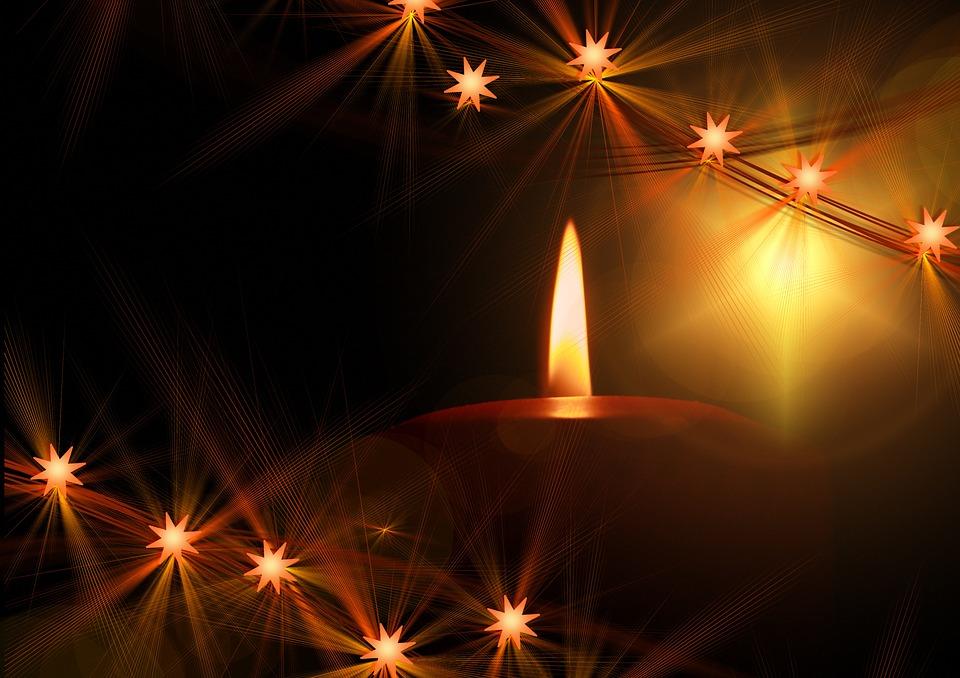Kostenlose Illustration: Kerzen, Kerzenschein, Glanz ...