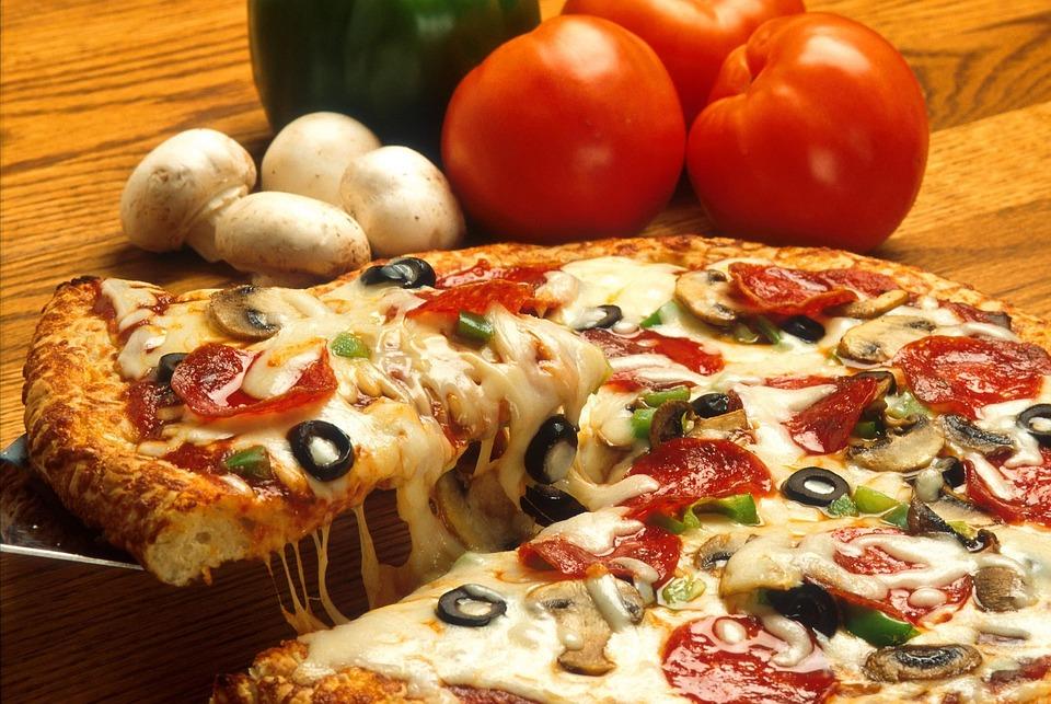 Pizza, Trinken, Lebensmittel