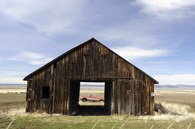 Free Photo Barn Old An Through Truck Free Image On