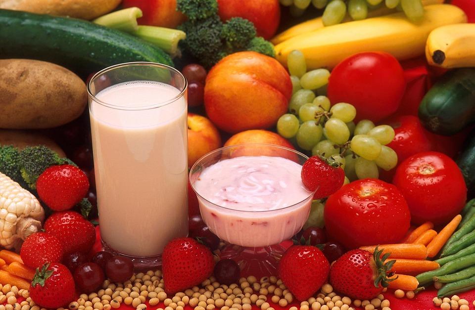 Yogurt, Milk, Vegetables, Fruits, Plants, Flora