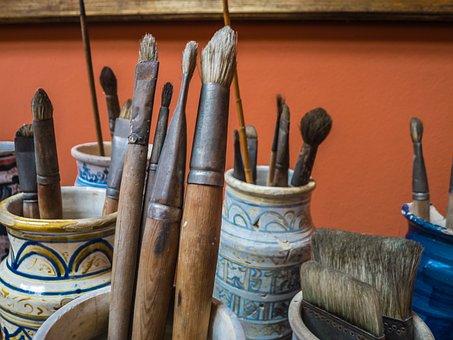 Štětce, Malíř, Malba, Box, Barva, Umění