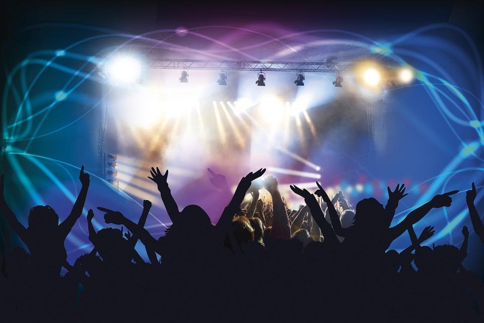 Concerto Ao Vivo, Clube De Dança, Discoteca, Laser