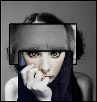 Schizophrenia Psychology Woman Face Eyes P