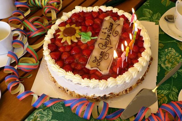 Geburtstagstisch Geburtstagstorte 183 Kostenloses Foto Auf