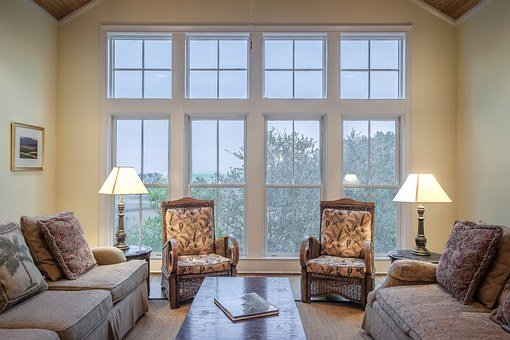 Living Room Windows Interior Home Modern F