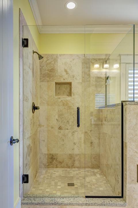 doccia piastrella bagno interno di lusso