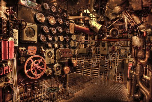 Battleship, Engine Room, Historic, War
