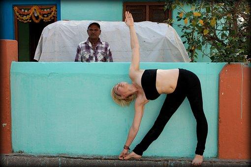 三角式, 三角形, 瑜伽, 阿斯汤加, 印度, 健身, 体式, 构成, 健康